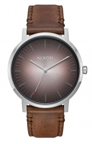 Nixon Clothing, Porter Leather Watch - Ombre/Taupe