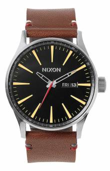 Sentry Leather Watch - Black/Brown