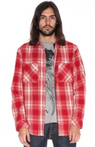 Nudie Jeans Clothing, Calle Button-Up Shirt - Shadow Check Blood Orange