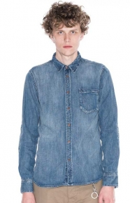 Nudie Jeans Clothing, Henry Button-Up Shirt - Authentic Wash Denim