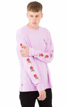 Airbrushed Rose L/S Shirt - Dusty Lavender