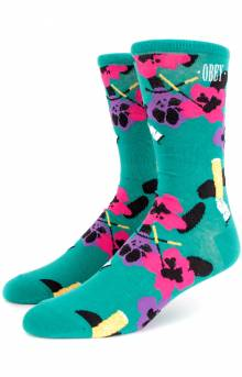 Ashed Out Socks - Teal Multi