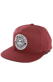 Classic Patch Snap-Back Hat - Burgundy