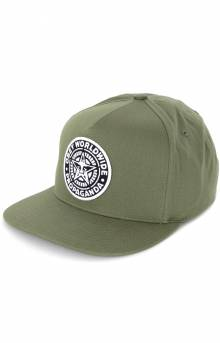 Classic Patch Snap-Back Hat - Olive