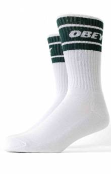 Cooper II Socks - White/Deep Teal
