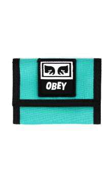 Drop Out Tri-Fold Wallet - Teal