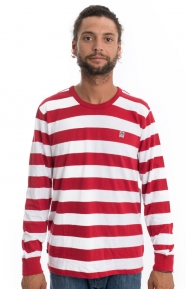 OBEY Clothing, Eighty Nine Fat Stripe L/S Shirt - Red Multi