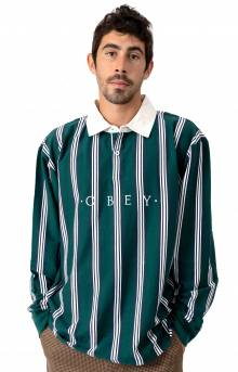 Firm Classic L/S Polo - Dark Teal Multi