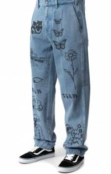Hardwork Printed Carpenter Pant - Light Indigo