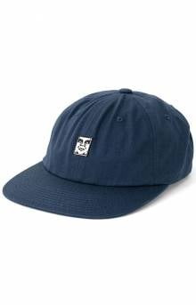 Icon Face Strap-Back Hat - Navy