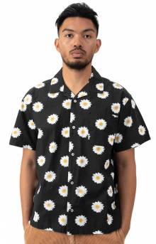 Ideals Organic Daisy Button-Up Shirt - Black Multi