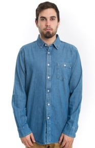 OBEY Clothing, Keble L/S Button-Up Shirt - Light Blue