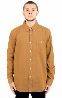 Keble L/S Button-Up Shirt - Tapenade