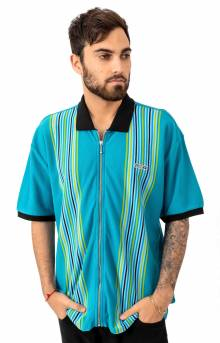Kelly Classic Zip Polo - Teal Multi