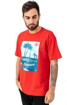 Lifeguard Not On Duty T-Shirt - Duty Red