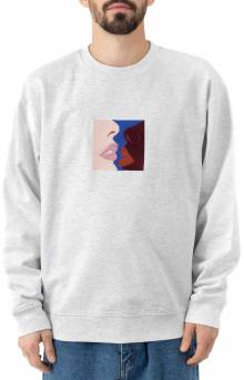 Lips Crewneck - Ash Grey