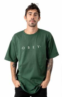 Novel Obey T-Shirt - Forest Green