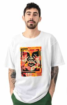 Obey 3 Face Collage T-Shirt - White