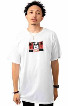 Obey 3 Faces 30 Years T-Shirt - White