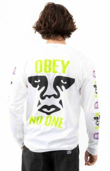 Obey Act Up L/S Shirt - White