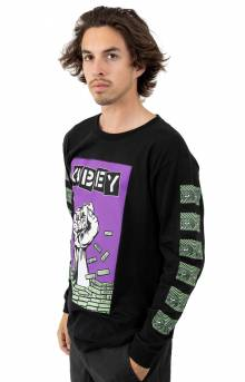 Obey Bust Out L/S Shirt - Black