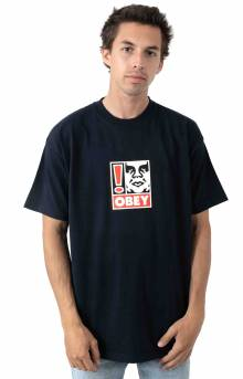 Obey Exclamation Point T-Shirt - Navy