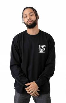 Obey Eyes Icon 2 L/S Shirt - Off Black