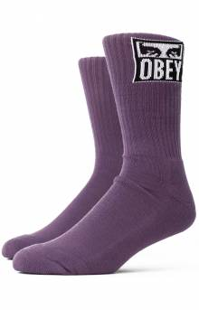 Obey Eyes Icon Socks - Purple Nitro