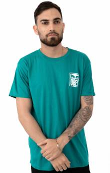 Obey Eyes Icon T-Shirt - Teal