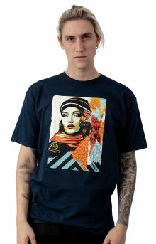 Obey Fire Sale T-Shirt - Navy