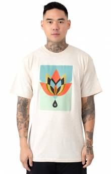 Obey Geometric Flower T-Shirt - Natural
