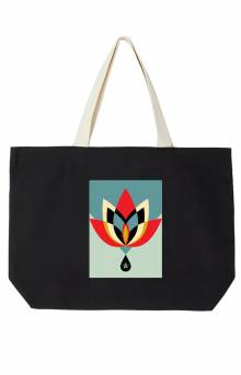 Obey Geometric Flower Tote Bag - Black