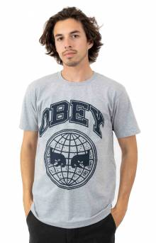 Obey Icon Planet T-Shirt - Heather Grey