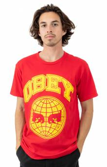 Obey Icon Planet T-Shirt - Red