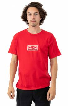 Obey Jumbled Eyes T-Shirt - Red