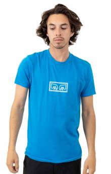 Obey Jumbled Eyes T-Shirt - Sky Azure