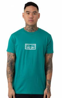 Obey Jumbled Eyes T-Shirt - Teal