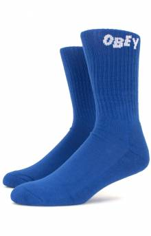 Obey Jumbled Socks - Blue/White
