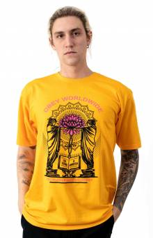 Obey Knowledge and Basic T-Shirt - Gold