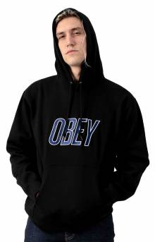 Obey Panic Pullover Hoodie - Black