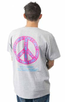 Obey Peace T-Shirt - Heather Grey