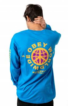 Obey Peaceful Resistance L/S Shirt - Sky Azure