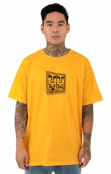 Obey Prop & Obedience T-Shirt - Gold