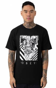 Obey Scratched Icon T-Shirt - Black