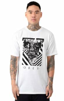 Obey Scratched Icon T-Shirt - White