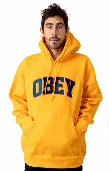 Obey Sports Pullover Hoodie - Gold