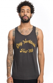OBEY Clothing, Obey Tour 89 Tank Top - Graphite