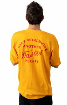 Obey Wasted Nights T-Shirt - Gold