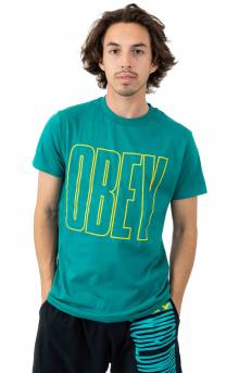 Obey Worldwide Line T-Shirt - Teal
