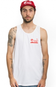 Permanent Vacation Tank Top - White